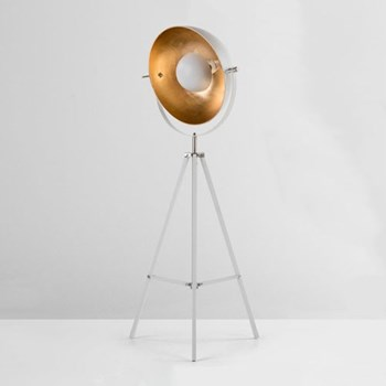 Chicago Tripod floor lamp, H164 x 67 x 67cm, muted grey and brass