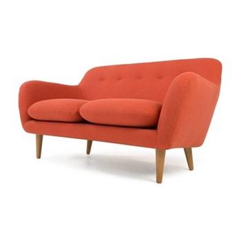 Dylan 2 seater sofa, H83 x W151 x D89cm, retro orange plywood/oak