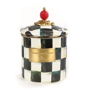 Courtly Check Small canister, 13 x H12cm, enamel