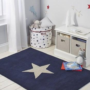 Star Rug, 150 x 100cm, navy