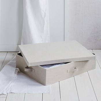 Underbed storage drawer, 15 x 64 x 49cm, natural