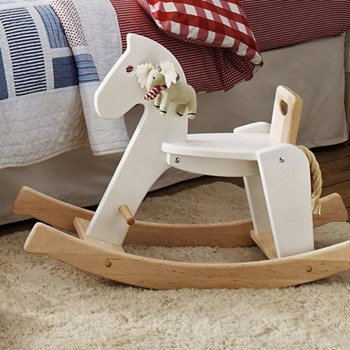 Rocking horse, 66 x 31 x 93cm, white