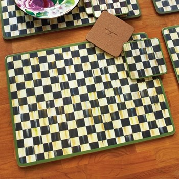 Set of 4 cork back placemats W40 x L30cm
