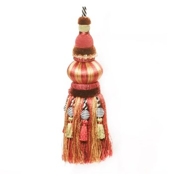 Bibelot tassel, L22cm, red and gold