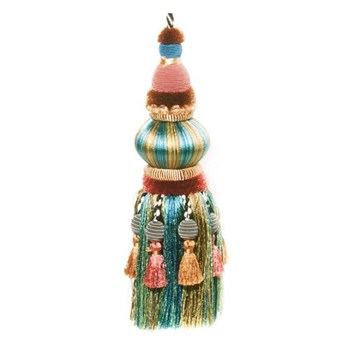Bibelot tassel, L22cm, peacock and moss