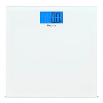 Digital bathroom scales, 30 x 30cm, white