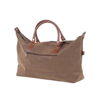Large brown weekend bag, brown