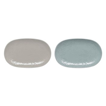 Monsoon - Gather Pair of small platters, grey and green