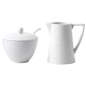 Jasper Conran - Strata Cream jug and sugar pot, 27cm, white
