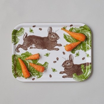 Classic Rabbit & Cabbage Large tray, 43 x 40cm