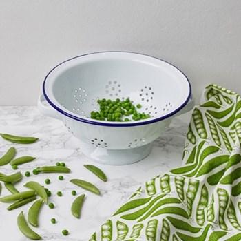 Pea Pod Tea towel, 50 x 70cm, green
