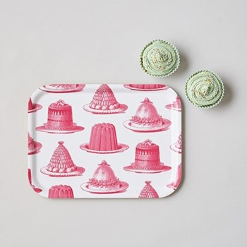 Jelly & Cake Small tray, 27 x 20cm, raspberry