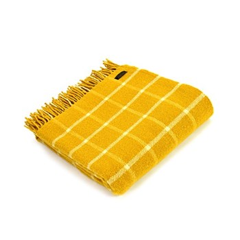 Chequered Check Throw, 150 x 183cm, yellow