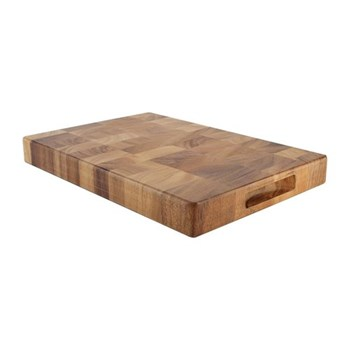 Tuscany Rectangular end grain board - medium, 38 x 26 x 4cm, acacia