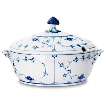Blue Fluted Plain Tureen and cover, 2 litre