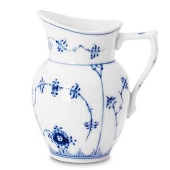 Blue Fluted Plain Cream jug, 8cl