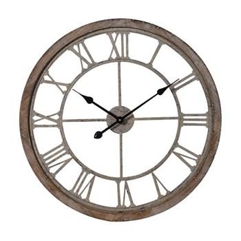 Cut-out clock, D64.5 x H5.5cm, wood