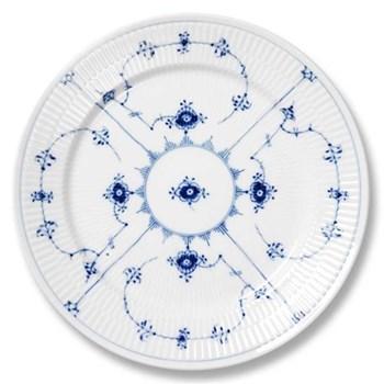 Blue Fluted Plain Plate, 17cm