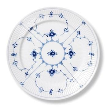 Blue Fluted Plain Plate, 19cm