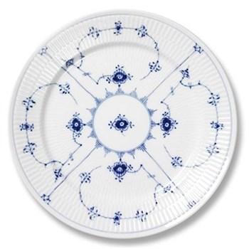 Blue Fluted Plain Plate, 27cm