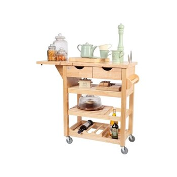 Viva Trolley, 79 x 43 x 91.5cm, natural hevea