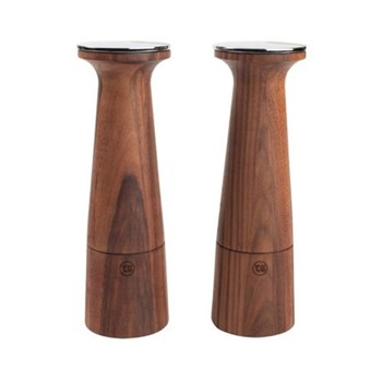 Oblique Pepper mill, 20.5cm, black walnut
