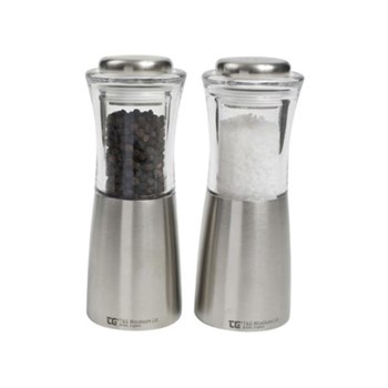 Apollo Pepper mill, 15cm, clear acrylic & stainless steel