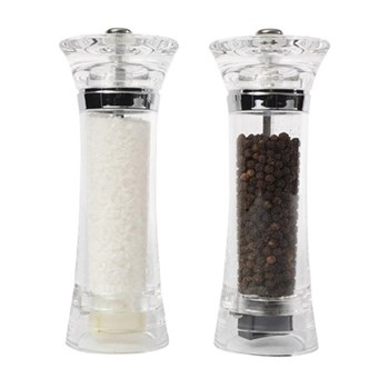 Toronto Tower Set of salt and pepper mills, 17cm, clear acrylic