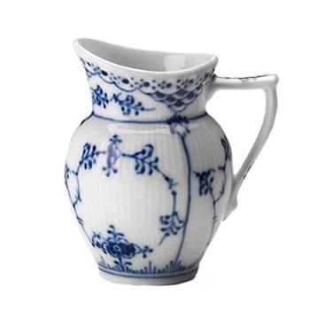 Blue Fluted Half Lace Cream jug, 17cl