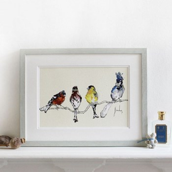 Finches Mounted print, 30 x 40cm