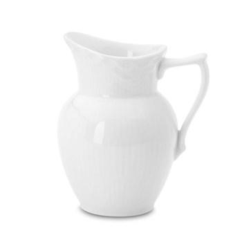 White Fluted Half Lace Cream jug, 17cl