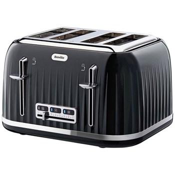 Impressions Toaster, 4 slot, black