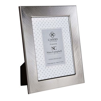 "Nina Campbell Fern engraved photograph frame, 7 x 5"", silver"