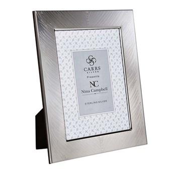 "Nina Campbell Fern engraved photograph frame, 6 x 4"", silver"