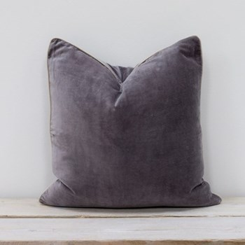 Velvet cushion, 50 x 50cm, lisbon grey