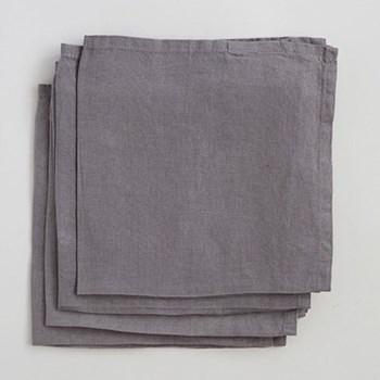 Linen Pack of 4 napkins, 45 x 45cm, grey