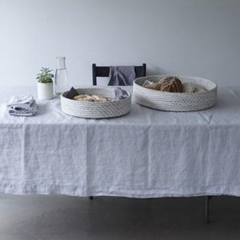 Linen Tablecloth, 140 x 230cm, silver grey