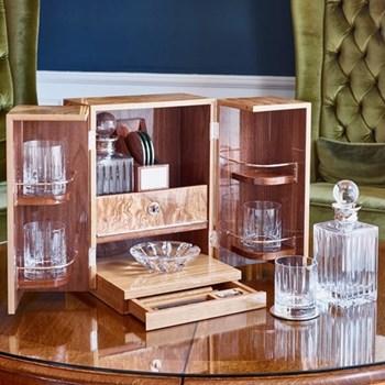 Sloane Bar Box, 30 x 30 x 39cm, walnut