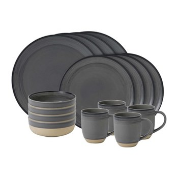 Ellen DeGeneres - Brushed Glaze 16 piece dinner set, grey
