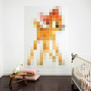 Disney - Bambi Wall decoration - pixel, 140 x 200cm