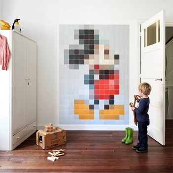 Disney - Mickey Mouse Wall decoration - pixel, 140 x 200cm