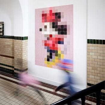 Disney - Minnie Mouse Wall decoration - pixel, 140 x 200cm