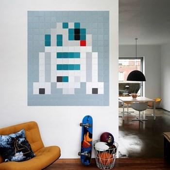 Star Wars - R2-D2 Wall decoration - pixel, 140 x 160cm