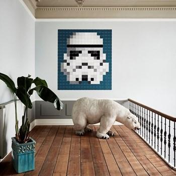 Star Wars - Stormtrooper Wall decoration - pixel, 180 x 200cm