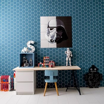 Star Wars - Stormtrooper / Darth Vader Wall decoration, 160 x 160cm, black and white