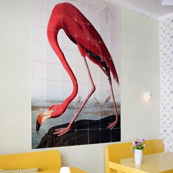 Art - Flamingo Audubon Wall decoration, 80 x 120cm