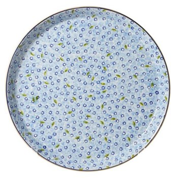 Lawn Presentation platter, D35cm, light blue
