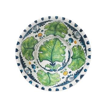 Aragonez Set of 4 Melamine bowls, D17 x H6cm, Green/blue
