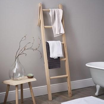 Bathroom ladder, H170 x W48 x D7cm, oak