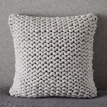 Wilby Cushion cover, 50 x 50cm, silver grey